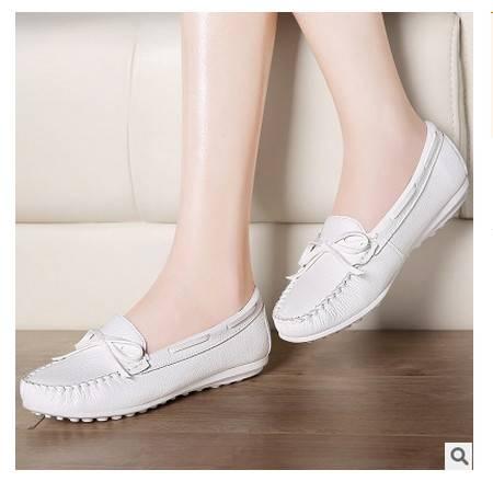 孕妇平底单鞋休闲鞋豆豆鞋女夏季2016韩版小白鞋