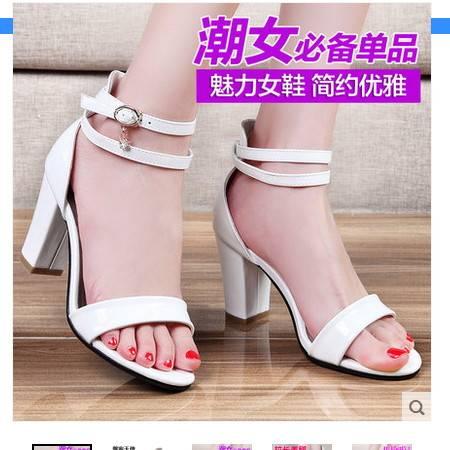 韩版高跟鞋细跟防水台潮流白领鱼嘴女士凉鞋2016夏季新品女生凉鞋包邮
