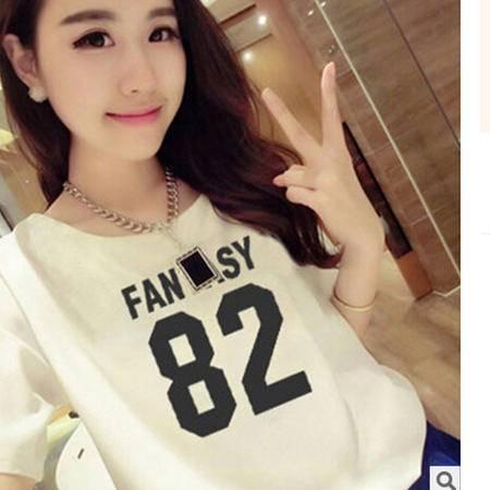 2016学生宽松数字短袖t恤衫印花闺蜜装夏季韩版上衣潮 梦鼎