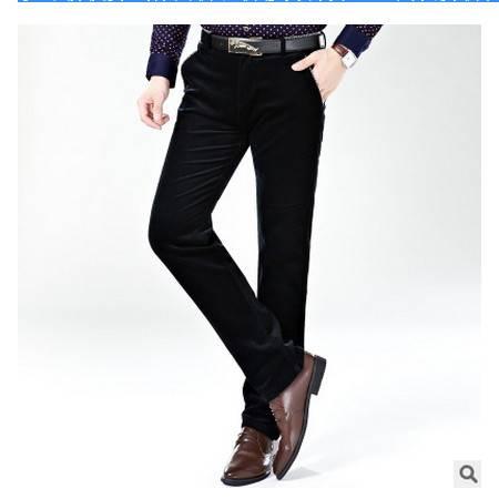 修身弹力纯色高档男裤商务绅士呢绒加厚秋冬新款男式休闲裤长裤祥服包邮