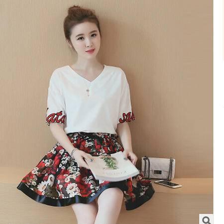 2016新款夏季时尚甜美显瘦连衣裙两件套M梦鼎