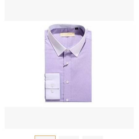 吸汗透气 职业正装修身款2016新款长袖拼色商务休男士纯棉衬衫 祥服包邮