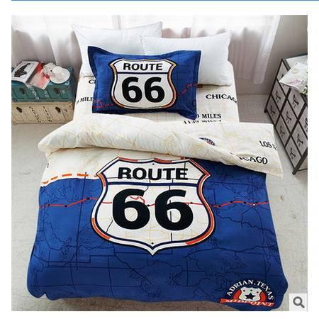 纯棉宿舍单人学生床单三件套全棉活性卡通三件套品经包邮