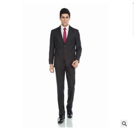 高档定制西装条纹商务修身套装新款西装男士商务套装祥服包邮