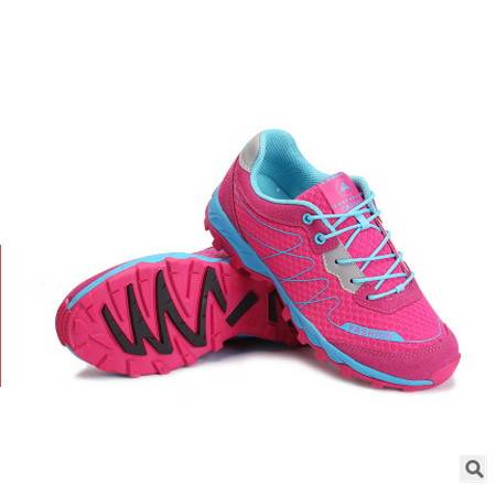 轻便防滑透气网面鞋子外贸单鞋2016户外登山鞋男女款可尼