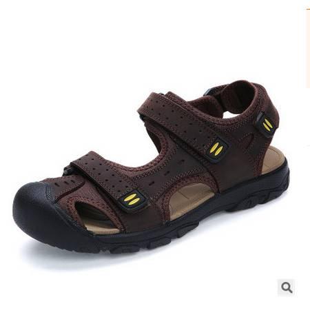 真皮溯溪沙滩鞋男式牛皮皮鞋男士凉鞋新款包头男凉鞋可尼包邮
