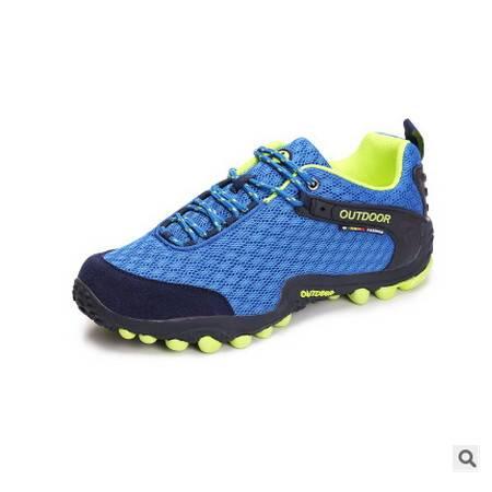 男女款轻便防滑透气网面鞋子情侣款2016新款户外登山鞋可尼