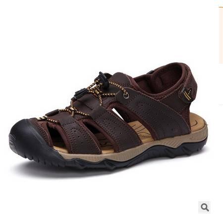 男士头层真皮户外溯溪鞋休闲包头凉鞋2016夏季透气凉鞋可尼包邮