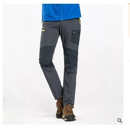 透气夏季登山裤运动防水长裤户外速干裤男女弹力快干裤可尼包邮