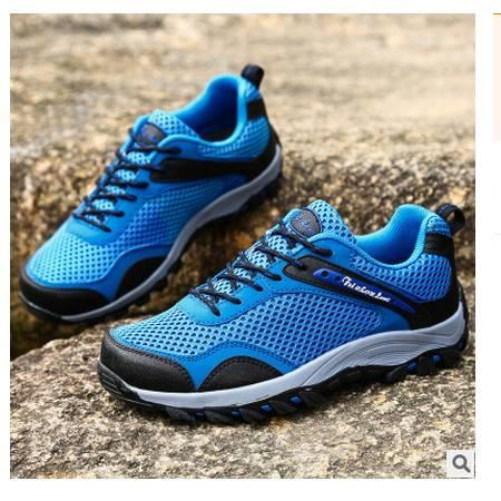 防水休闲运动鞋低帮徒步单鞋春季新款男鞋 男士户外登山鞋可尼包邮