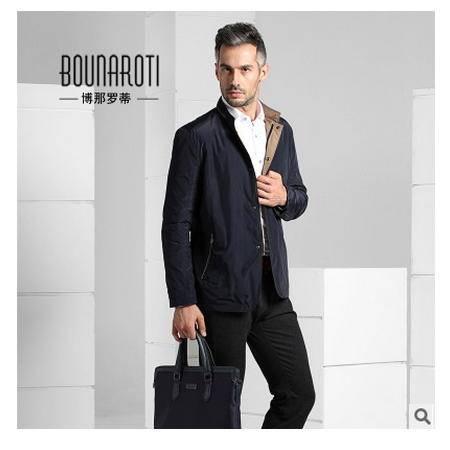 商务男士立领高端免烫休闲夹克外套2016秋冬新款男式夹克博纳罗蒂包邮