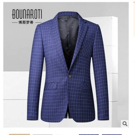 韩版修身时尚小西装男式便服2016新品男士休闲西服男装博纳罗蒂包邮