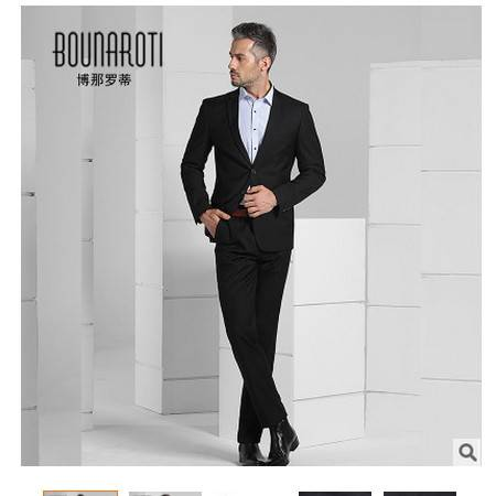 商务新郎结婚礼服面试西装2016新款男式西服套装职业学生正装博纳罗蒂包邮