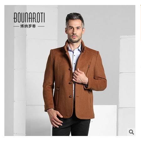 男式商务休闲毛呢男羊毛呢风衣冬季男装外套2016新款羊绒大衣博纳罗蒂包邮