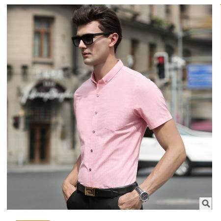 商务短袖 高档精纺全棉男装2016夏季新款男式衬衫 卓丹龙