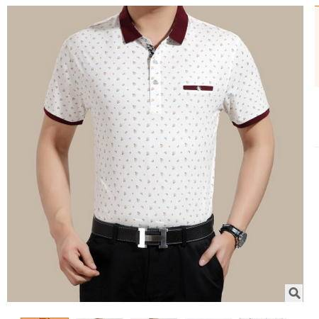 高档休闲短袖时尚翻领 棉质男装2016夏装新款男式T恤卓丹龙
