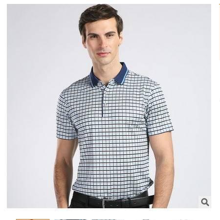 高档桑蚕丝短袖 时尚商务男装 2016夏装新款男式T恤 卓丹龙包邮