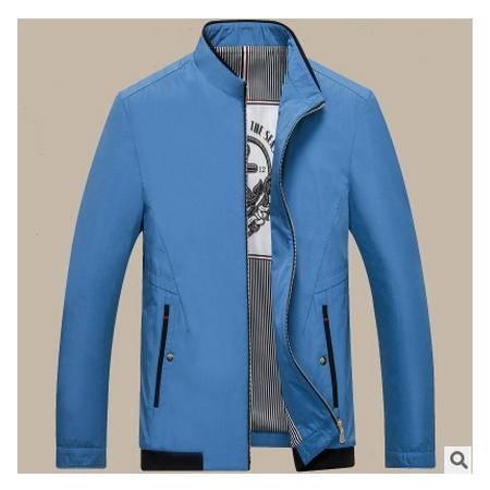 高档商务男装外套 时尚立领2016秋冬新款男式夹克卓丹龙包邮