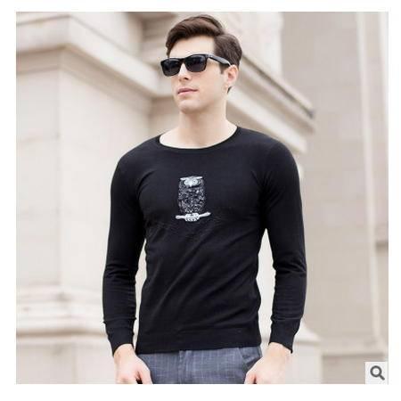 时尚男装 高档丝光羊毛衫2016秋季新款男式针织衫卓丹龙包邮