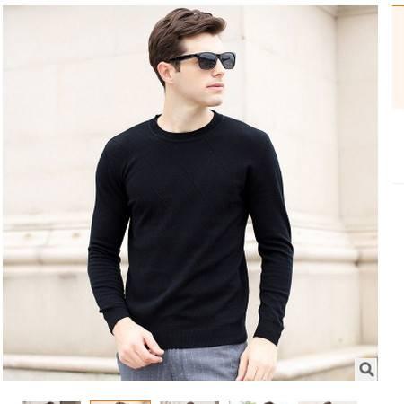 薄款精品全羊毛男衫 男装2016秋季新款男式羊毛衫 卓丹龙包邮
