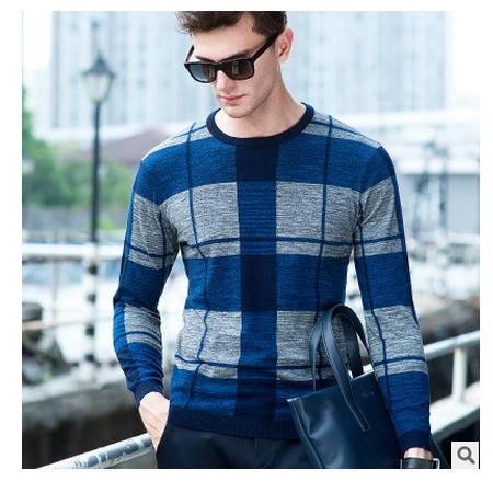 时尚男装 高档100%纯毛衣2016秋季新款男式羊毛衫卓丹龙包邮