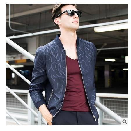 拉链小立领2016秋季新款男式夹克衫 时尚韩版男装卓丹龙包邮