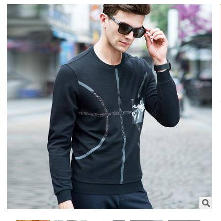 时尚高档薄款针织衫 男装2016秋季新款男式羊毛衫卓丹龙包邮