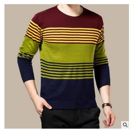 时尚男装 高档丝光羊毛衫2016秋季新款男式针织衫 卓丹龙