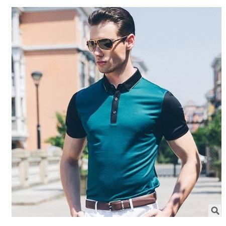 高档桑蚕丝短袖 时尚商务男装2016夏装新款男式T恤卓丹龙包邮