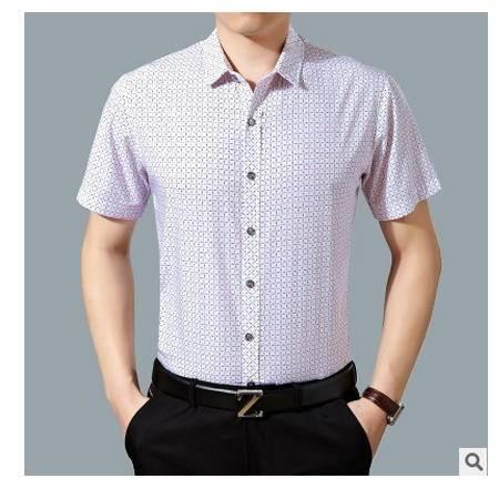 商务短袖 高档精纺全棉男装2016夏季新款男式衬衫卓丹龙
