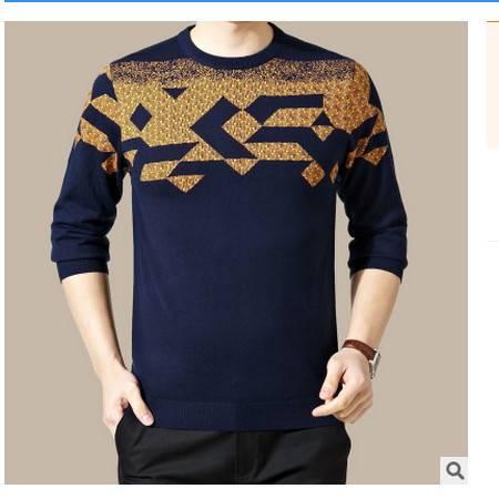 时尚男装 高档丝光羊毛衫2016秋季新款男式针织衫 卓丹龙包邮