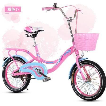 2016彩虹学生车儿童自行车 16寸 充气轮带前框可带人加厚车架 爱童