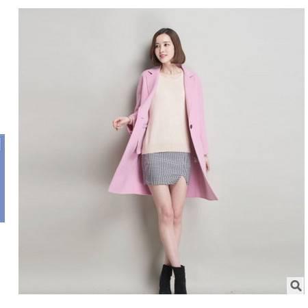 中长款呢大衣双面羊绒大衣秋冬新品女装 韩版修身毛呢外套女永飞包邮