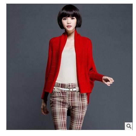 宽松毛衣大码开衫时尚披肩外套女两穿秋季新款女装蝙蝠针织衫永飞包邮