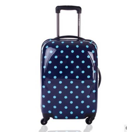 女登机箱万向轮行李箱时尚可爱日韩波点旅行箱18寸圆点拉杆箱右手方包邮