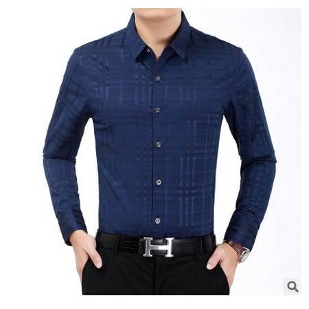 衬衣纯色棉衬衫商务男装新款男士长袖衬衫薄款秋装祥盛