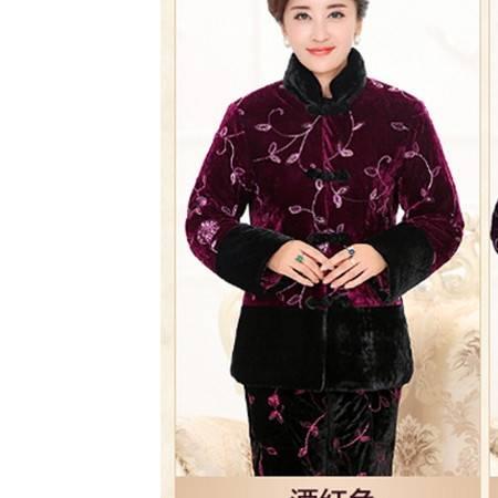 保暖常规棉袄套装原创外套正品新款中老年女装冬装金丝绒棉衣系卖包邮