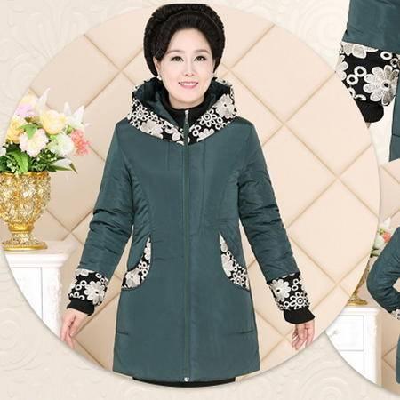 中长款棉服外套中年女装妈妈装新款中老年女装冬装棉袄棉衣系卖