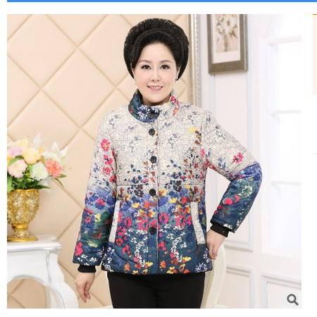 短款棉袄中年冬装服装老人冬棉衣中老年女装棉衣时尚妈妈装系卖