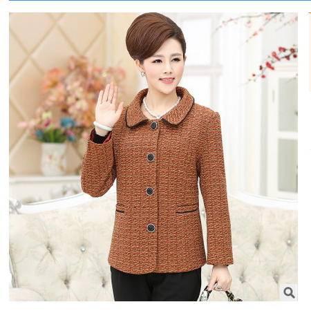 中老年春秋款短外套秋季新品中年女装40-50-60岁妈妈岁秋装外套系卖
