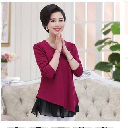 长袖t恤2016中年岁妈妈装中长款打底衫中老年女装秋装上衣系卖