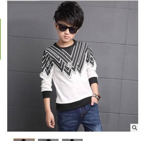中大男童T恤休闲韩版上衣新款秋装怡衣童装