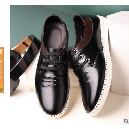 韩版休闲鞋男系带鞋子男鞋时尚真皮男鞋卡劲包邮