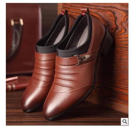 正装品牌皮鞋休闲鞋子单鞋新品男士商务鞋婚鞋套脚皮鞋男卡劲包邮