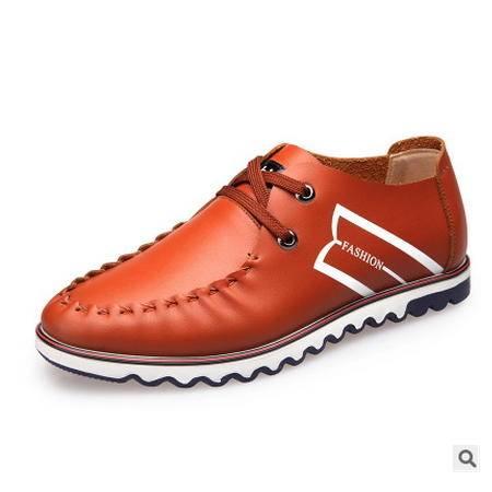 时尚男式单鞋品牌皮鞋温州皮鞋男士休闲鞋皮鞋男卡劲包邮