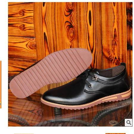 圆头英伦时尚时尚鞋子新款休闲皮鞋男商务鞋系带皮鞋卡劲包邮
