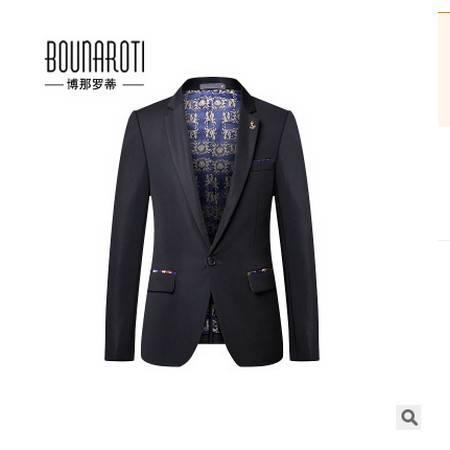 男爆款装便服外套男装秋季新款男式休闲西装 韩版修身小西服博纳罗蒂包邮
