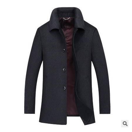 男式中长款风衣外套中老年秋冬新款中年商务大衣博纳罗蒂包邮