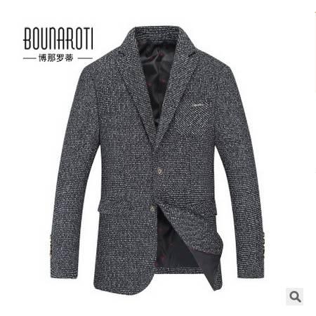 小西装外套便西男装修身简约时尚秋季新款西装男式小西服博纳罗蒂 包邮