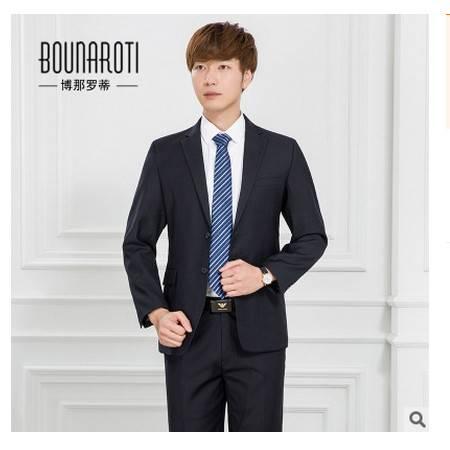 韩版职业正装西服套装男士修身新郎结婚礼服秋季新款西装男 博纳罗蒂包邮